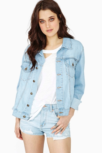 Outsiders denim jacket in  lookbooks the out there shop view all at nasty gal