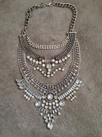 jewels siilver big necklace necklace statement boho necklace boho bohemian instagram grunge vintage pale tumblr cute hm zara statement necklace