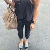 top,grey,leather pants,birkin,beige,bracelets,chanel,leather bracelet,gold detail,charcoal,dark grey t shirt,jewels
