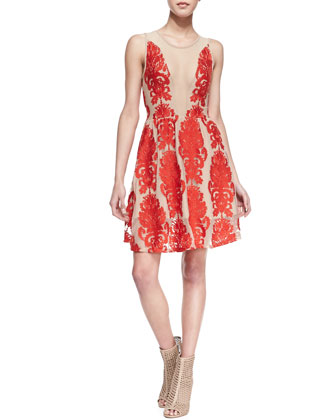 For Love & Lemons | Lulu Lace-Patterned Dress - CUSP
