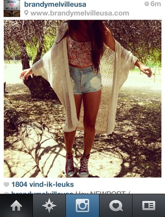 sweater vest knitwear hipster brandy melville shorts tank top