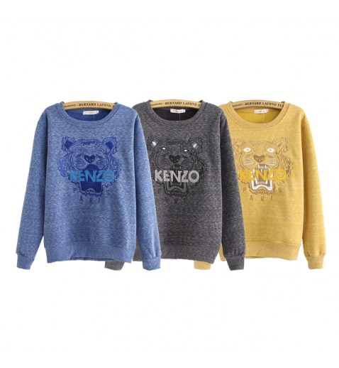 Tiger Applique Jumper - Cotton Sweatshirts - Tops - Clothing