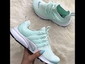 shoes,nike,nike shoes,women,mint,robin egg blue,pretty,casual,cute