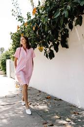 dress,flats,pink dress,midi dress,casual dress,bag