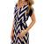 Becca Chevron Dress, Navy :: Dresses :: The Blue Door Boutique