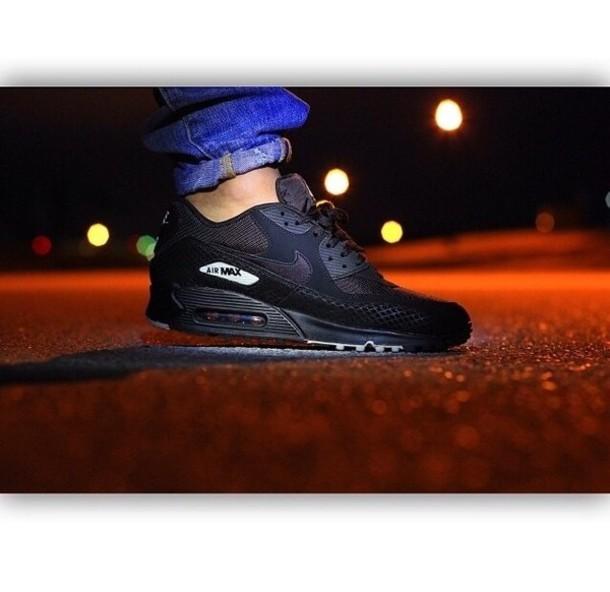 air max 90 hyperfuse all black