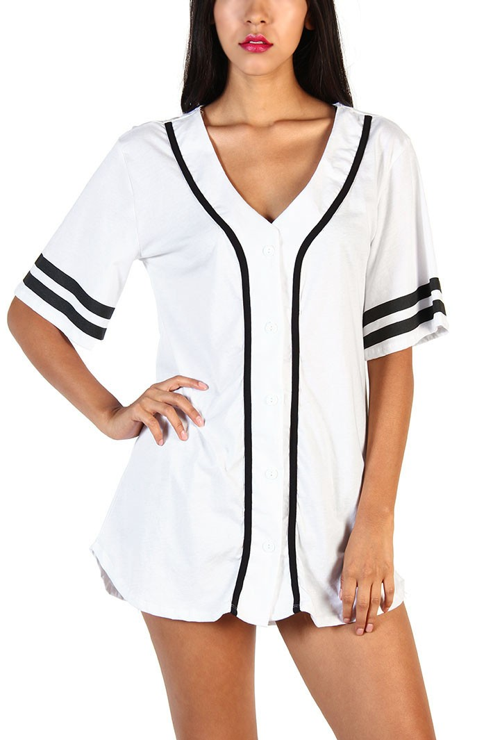 West Coast 72 Baseball Jersey Top White