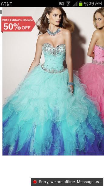 dress blue ombre dress