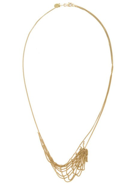 women necklace gold grey metallic jewels
