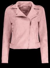 jacket,suede jacket,girly,pink,suede,biker jacket,zip,zip up jacket