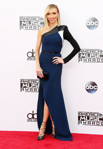 american music awards giuliana rancic prom dress gown dress navy