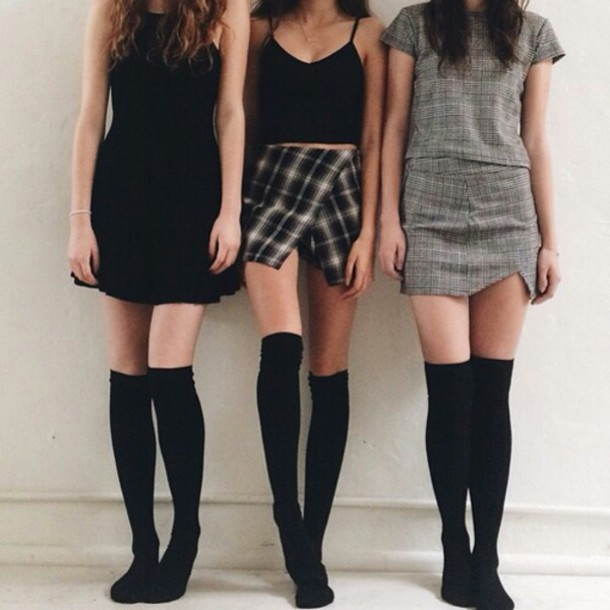 Skirt: all 3 skirts, cute skirt, plaid skirt, plaid skirt, grunge ...