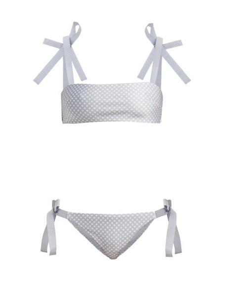bikini bandeau bikini blue swimwear