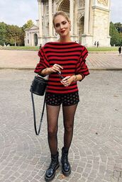 pants,chiara ferragni,blogger style,blogger,fashion week,streetstyle,tights,shorts,sweater,fall outfits