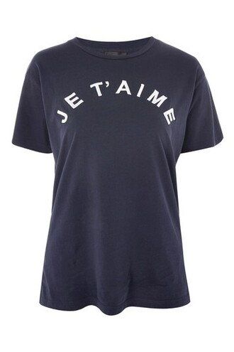 t-shirt shirt embroidered navy blue top