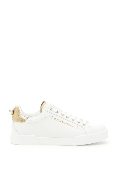 Dolce & Gabbana sneakers. sneakers gold leather shoes