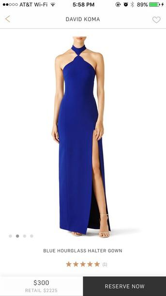 dress royal blue maxi dress david koma evening dress