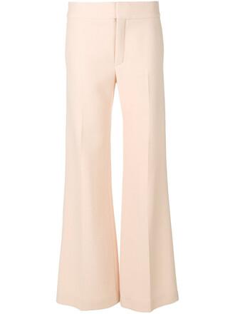 women silk wool purple pink pants