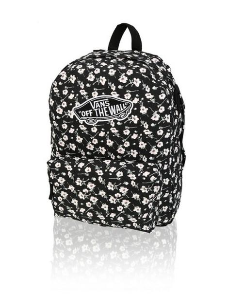 dbe78e98a3 bag vans backpack white black flowers flowers daisy vans of the wall