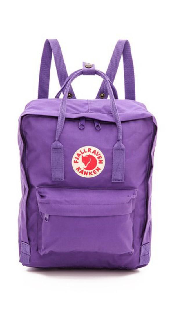 Fjallraven Kanken Backpack in purple