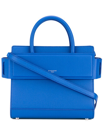 mini women bag tote bag leather blue