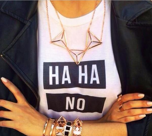 t-shirt triangle quote on it jewels