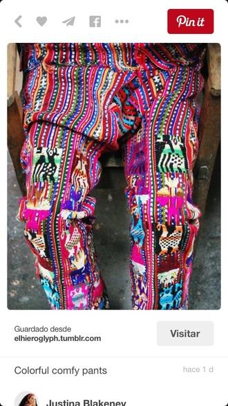 pants boho boho inspiration white yellow green blue boho chic gypsy womens latest trend fashion fashionis comfy pink
