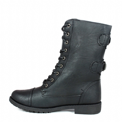 Blk 2 rear buckle boot