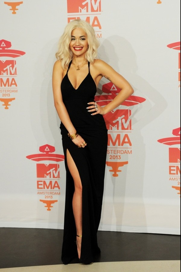 dress rita ora black dress ema amsterdam long dress long black dress little black dress vneck dress slit dress black long dress black style black slit dress legslit prom dress slit dress evening dress