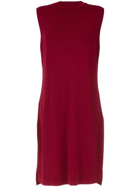 dress shift dress women knit red