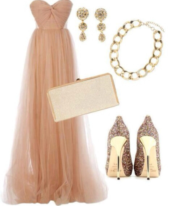 dress prom dress long prom dress pink champagne dress cute prom dress tumblr champange dress