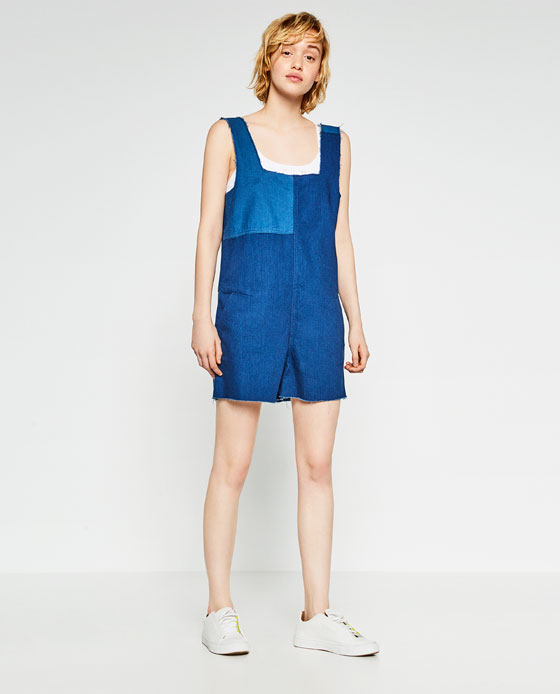 a944a33c81fd FRAYED DENIM JUMPSUIT - JUMPSUITS-SALE-WOMAN