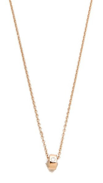 mini rose gold rose clear necklace diamond necklace gold jewels