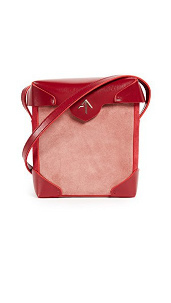 manu atelier mini bag pink red
