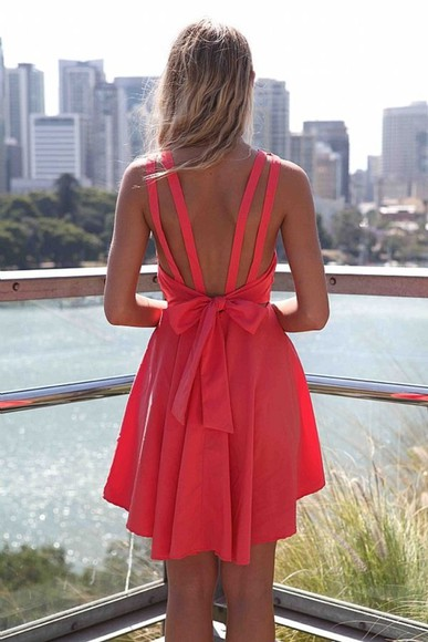 dress Bow Back Dress Xenia xeniaboutique high-low dresses