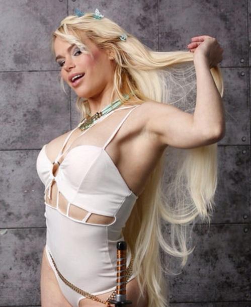 Swimwear Durbani Maria Durbani Body White Blonde Hair Hair Extensions Movies Pretty Sweet Girl Sexy Style Indian Actress Actresses