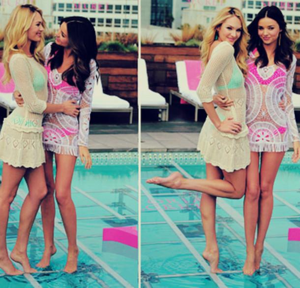 32926ac69fad6 dress, cover up, bikini, swimwear, swimwear, pool, pink, victoria's ...