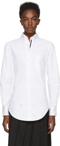 Thom Browne shirt collar shirt classic white top