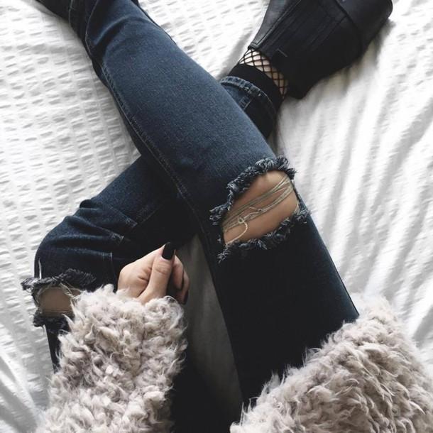 Fashionable Clothes Shoes Jeans Lipsticks Nail Polish: Socks, Tumblr, Fishnet Socks, Boots, Black Boots, Ankle