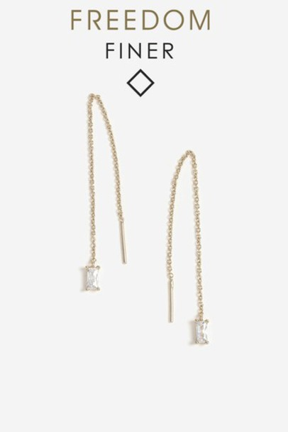 Topshop earrings gold jewels