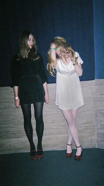 Dress: grunge, tumblr, pastel goth, pastel, goth hipster, soft grunge, black, velvet ...