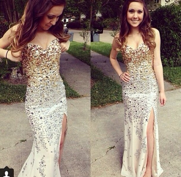 Dress Gold Sliver Ombre