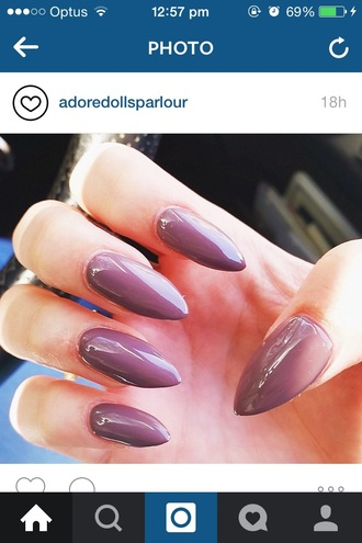 nail polish taupe nails purple colorful nail