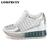 Mesh Breathable Platform Lace-up