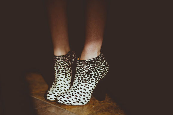 shoes low boots booties dalmatian print black heel