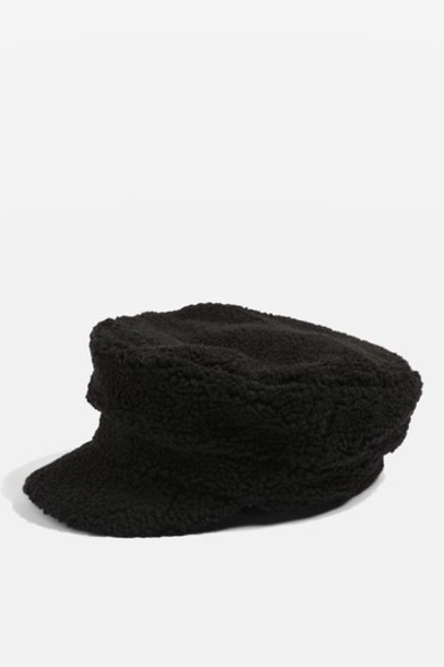 Topshop hat black