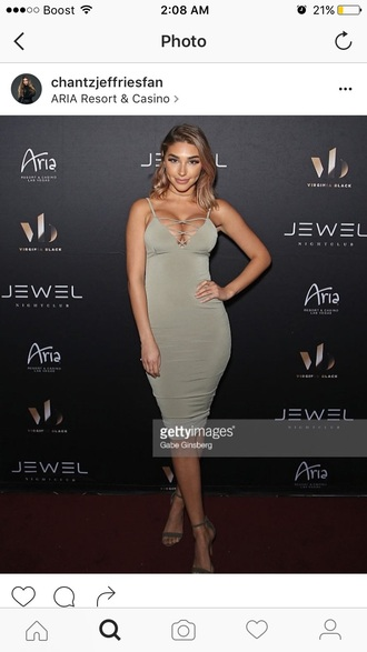dress cj ceejay green jade sage olive green lace up cut-out ladder strappy tie up midi bodycon clubwear chantel jeffries ceejaythedj justin bieber lace up dress bodycon dress cute dress girly dress date outfit birthday dress sexy dress sexy party dresses