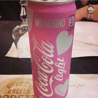 nail accessories pink white black moshino style silver drink coca cola drinking coca cola home accessory drinking botlle moschino water bottle