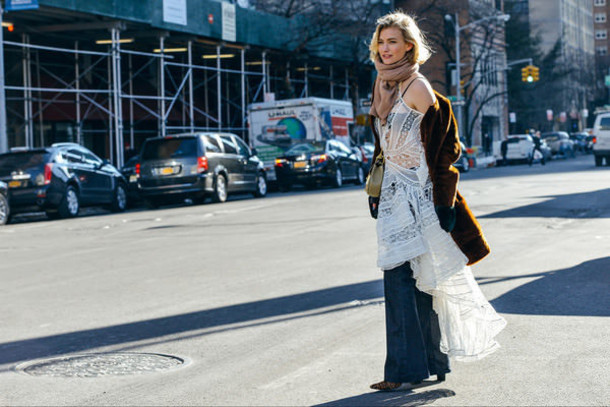 zanita blogger coat scarf gypsy lace dress