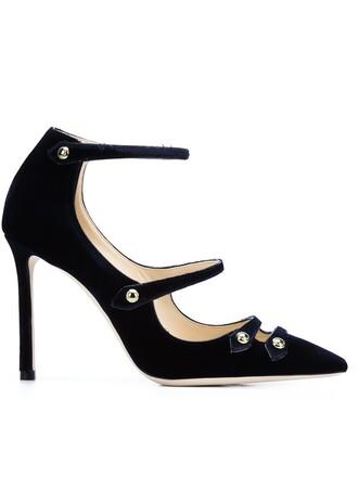 100 pumps blue shoes